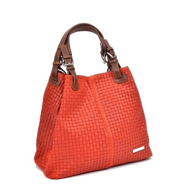 Červená kožená kabelka Isabella Rhea Ariya