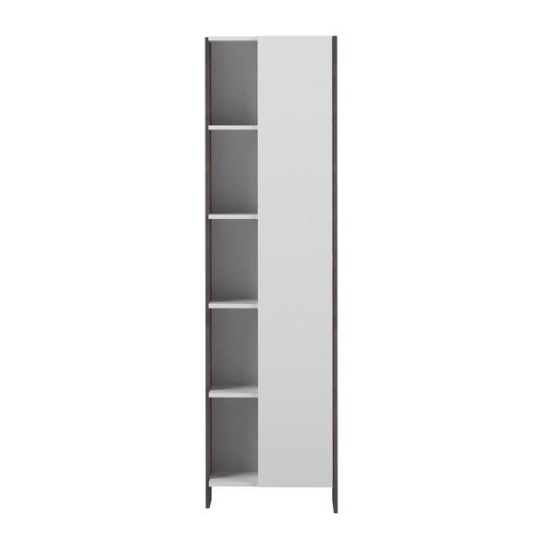 Bílá koupelnová skříňka s šedým korpusem TemaHome Biarrtiz, výška180cm