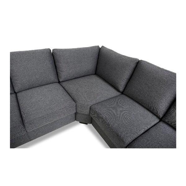 Canapea pe colț Furnhouse Lucie, gri închis