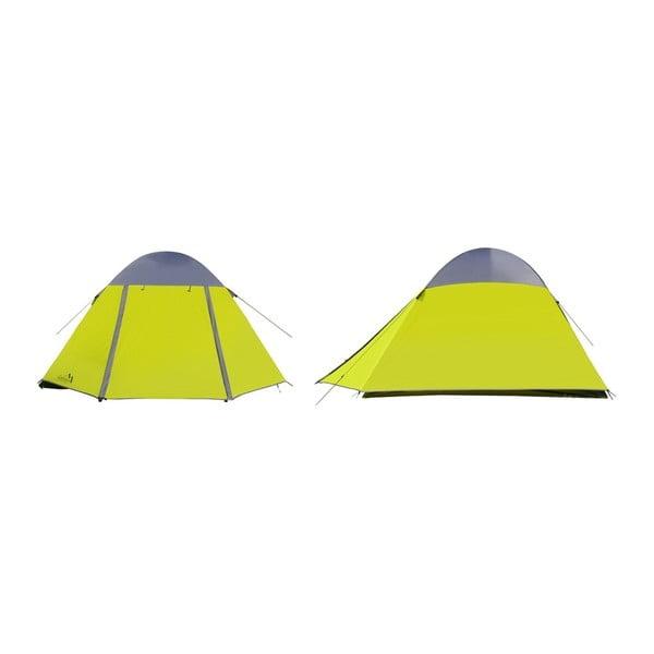Žlutý dvouplášťový stan pro 3 osoby Cattara Trent