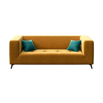 Canapea cu 3 locuri MESONICA Toro, galben miere imagine