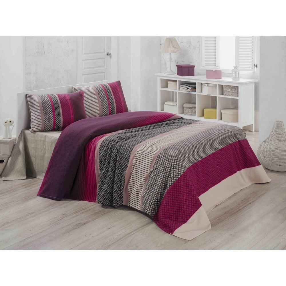 Bavlněný lehký přehoz přes postel Lotus, 200 x 230 cm