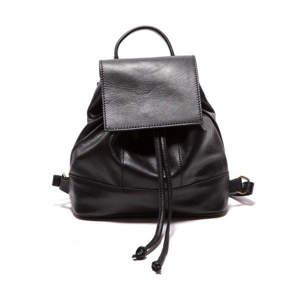 Černý kožený batoh Sofia Cardoni Fredo