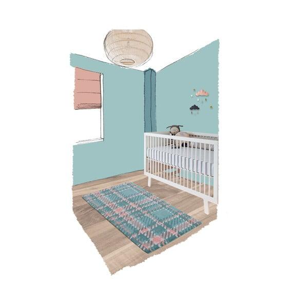 Dětský koberec Teddy Macaron, 70x140 cm