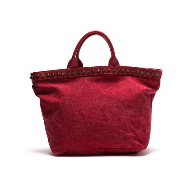 Kožená kabelka Anna Luchini 8037 Rosso