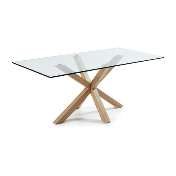 Jídelní stůl s dřevěným podnožím La Forma Arya,délka200cm