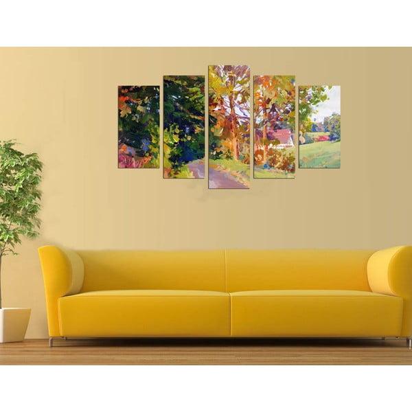 Pětidílný obraz Venkov, 110x60 cm