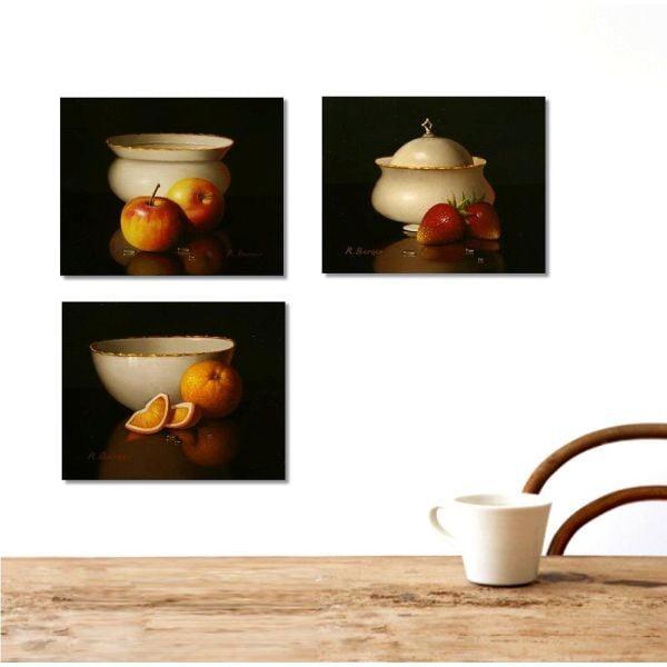 3dílný obraz Kitchen, 45x90 cm