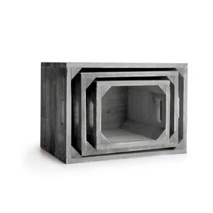 Sada tří kusů úložných boxů Surdic Cajon Set 1945 Gris Marengo šedé barvy