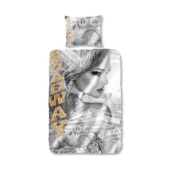 Lenjerie de pat din bumbac Muller Textiels Broadway Girl, 135 x 200 cm
