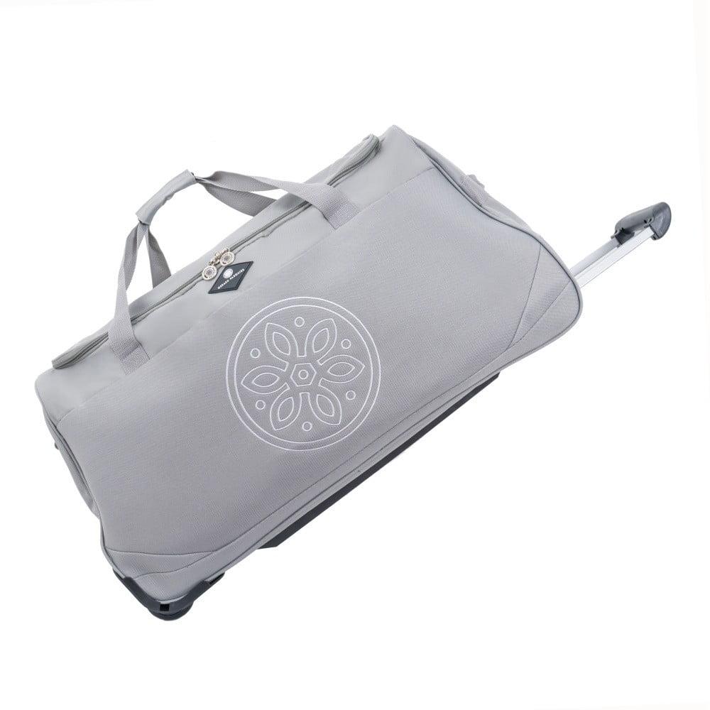 Světle šedá cestovní taška na kolečkách GERARD PASQUIER Miretto, 45 l
