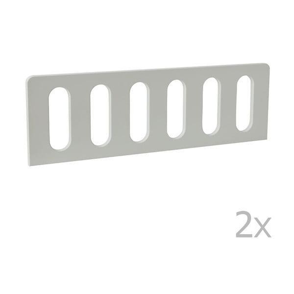 Modern 2 darab fehér leesésgátló, 200 x 90 cm - Pinio