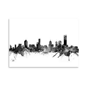 Plakát Americanflat Melbourne Skyline, 42 x 30 cm