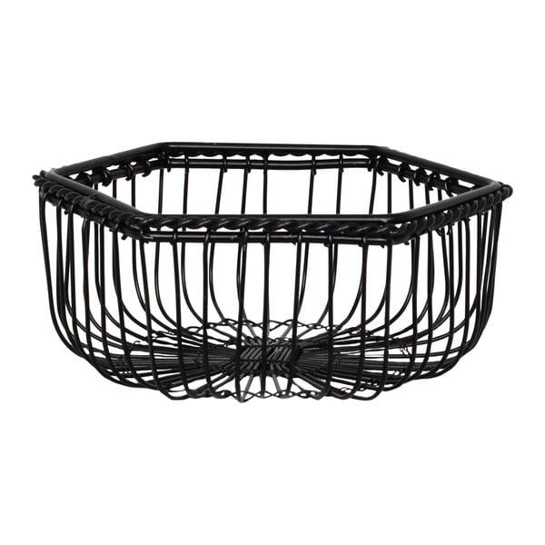 Sada 2 černých kovových košíků Strömshaga Agne
