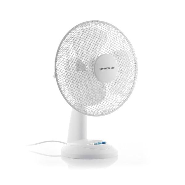 Biely stolový ventilátor InnovaGoods, ø 30 cm