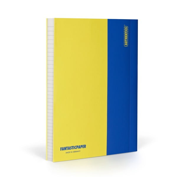 Zápisník FANTASTICPAPER A5 Lemon/Blue, řádkovaný
