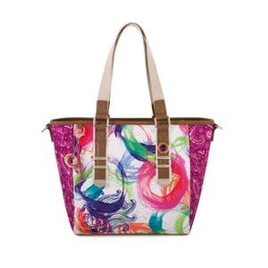 Bílo-růžová kabelka SKPA-T Purple, 37 x 26 cm