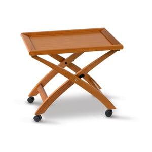 Pojízdný servírovací stolek z bukového dřeva Arredamenti Italia Billy