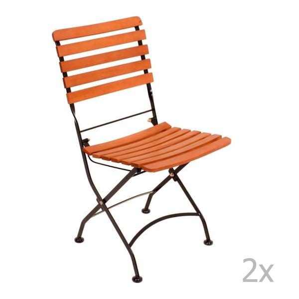 Vienna összecsukható kerti szék eukaliptuszfából, 2 db - ADDU