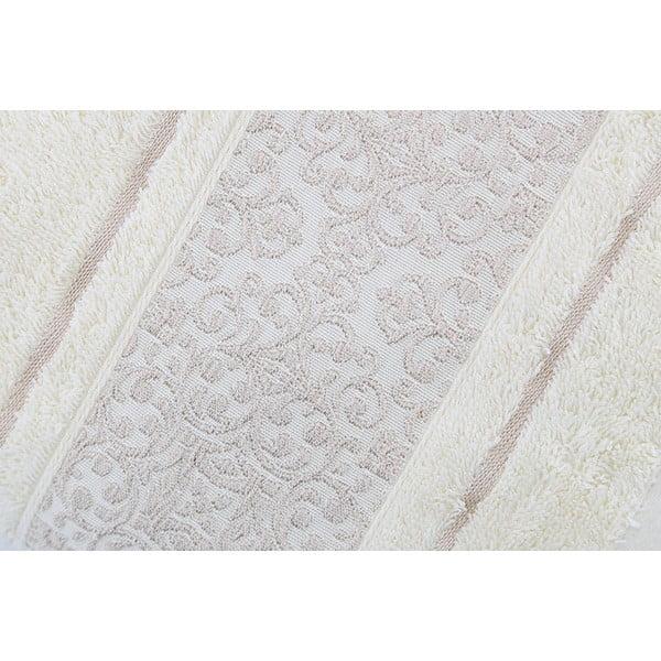 Sada 2 krémových bavlněných ručníků Ceramica, 50x90cm