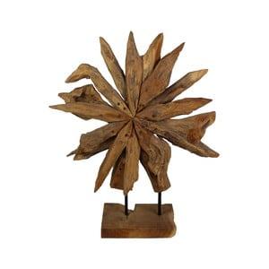 Dekorace  z teakového dřeva HSM collection Sunflower, 60x80cm
