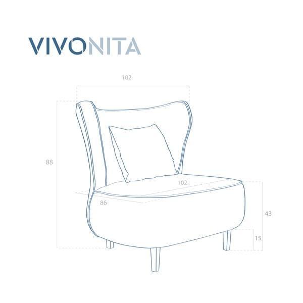 Fotoliu Vivonita Douglas Love Seat, mov deschis