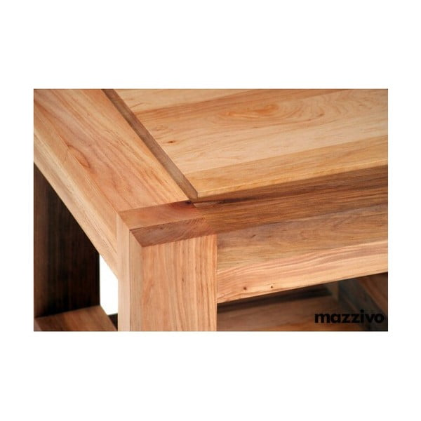 Noční stolek Ellesse z olšového dřeva, bezbarvý vosk