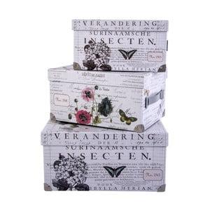 Sada 3 úložných krabic Surina