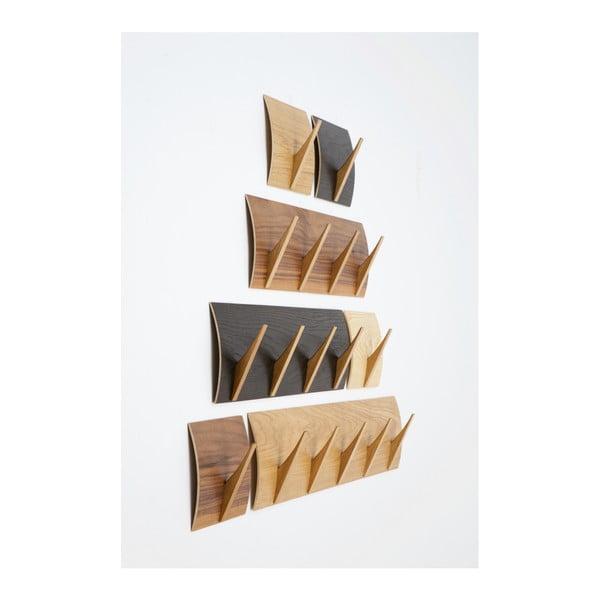 Nástěnný věšák z masivního dřeva Woodman Rack Naki Walnut Large