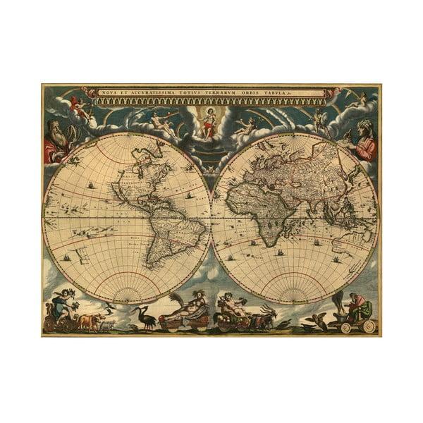 Fotoobraz Mapa Světa, 80x60 cm