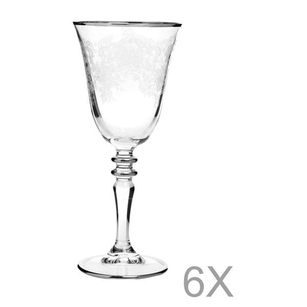 Sada 6 pohárov na víno Mezzo Crystal, 350 ml