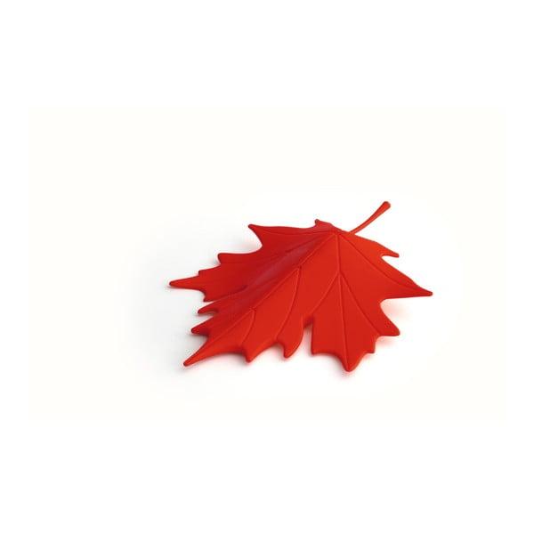 Opritor ușă în formă de frunzăQualy&CO Autumn, roșu
