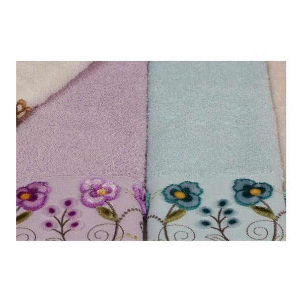 Sada 6 barevných ručníků z čisté bavlny Lovely, 30 x 50 cm