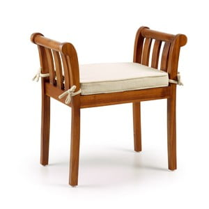 Stolička ze dřeva mindi se sedákem Moycor Kipas