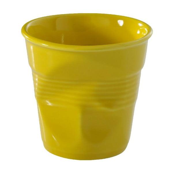 Kelímek na cappuccino Froisses 18 cl, žlutý