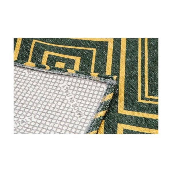 Vysoce odolný kuchyňský koberec Webtappeti Hellenic Green, 60x220 cm