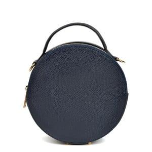 Tmavě modrá kožená kabelka Isabella Rhea Valerio