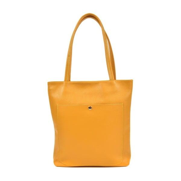 Żółta skórzana torebka Roberta M Huniya Giallo