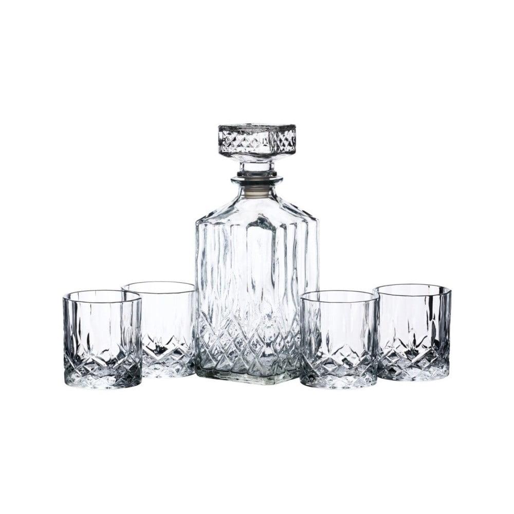 Set skleněného dekantéru a 4 sklenic Kitchen Craft Effect