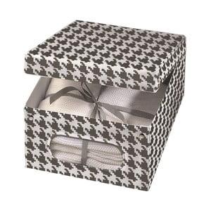 Úložná krabice Ordinett Pied Poule, 48x36cm