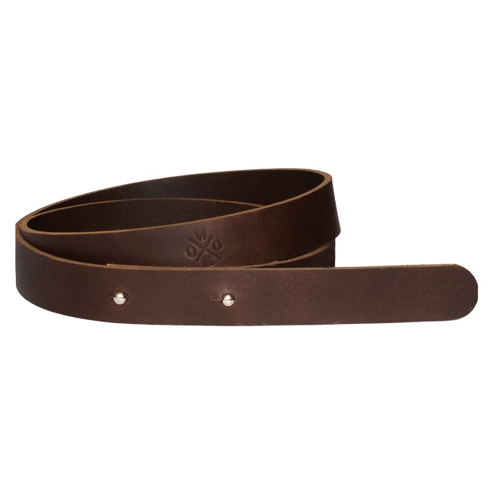 Hnědý dámský kožený pásek Woox Bini Fuscus, délka 82 cm