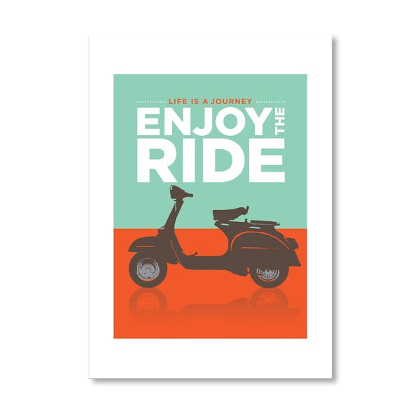 Autorský plakát Enjoy the Ride Vespa