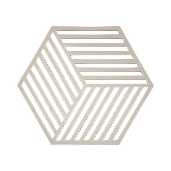 Hexagon világosszürke edényalátét - Zone