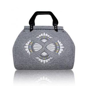 Plstěná vyšívaná kufříková kabelka do ruky Destiny