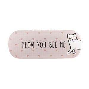 Růžové pouzdro na brýle Sass & Belle Cutie Cat