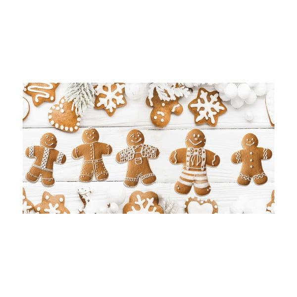 Traversă de masă Crido Consulting Festive Gingerbreads, lungime 100 cm