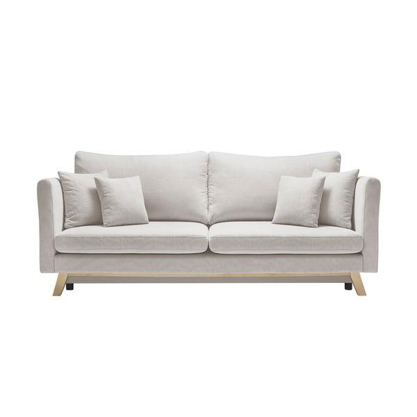 Kremowa sofa rozkładana Bobochic Paris Triplo