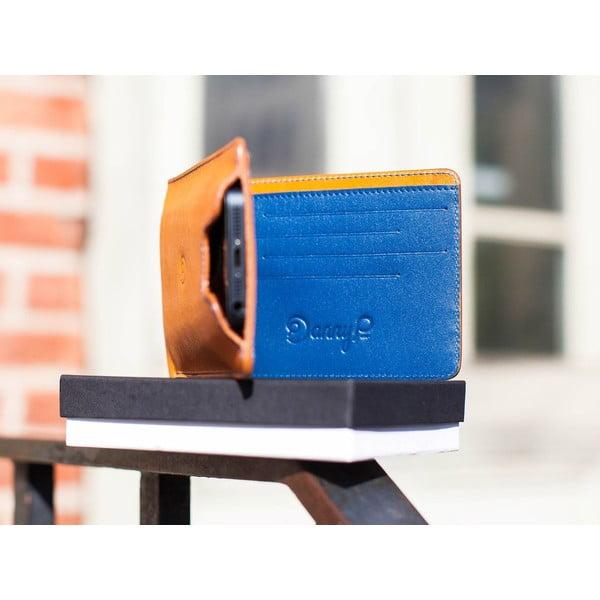 Danny P. kožená peněženka s kapsou na iPhone 5 Cognac