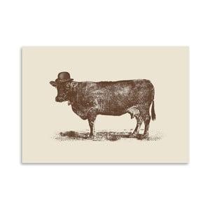Plakát Cow Cow Nut od Florenta Bodart, 30x42 cm