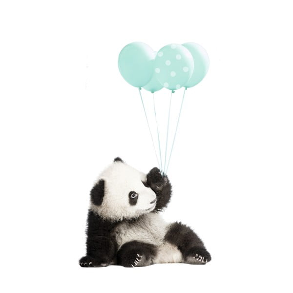 Nástenná samolepka Dekornik Minty Panda, 55×92 cm